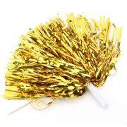 Мажоретни лъскави помпони Злато, 300 г