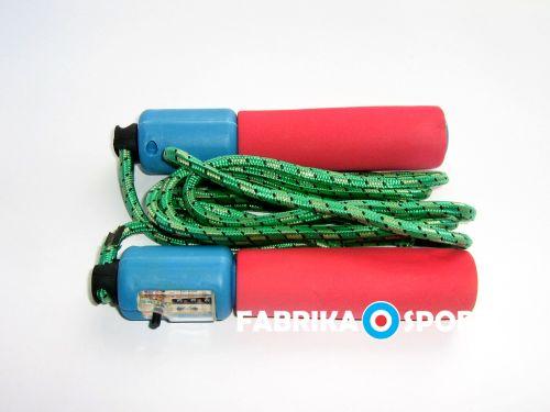 Въже за скачане с меки дръжки и брояч