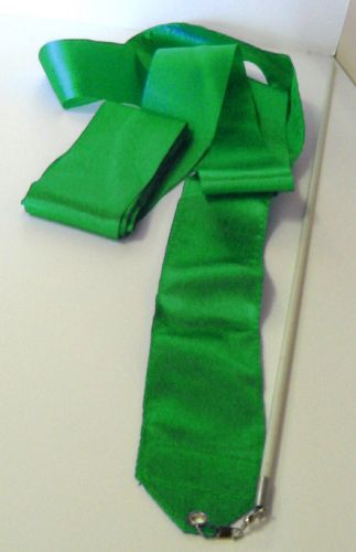 Лента за художествена гимнастика, зелена