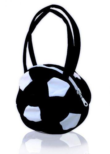 Чанта футболна топка, черна