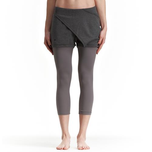 Асиметричен къс панталон Arya, сиво