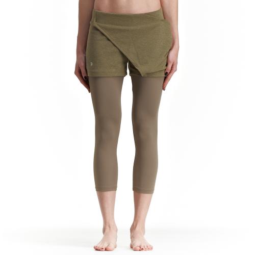 Асиметричен къс панталон Arya, каки