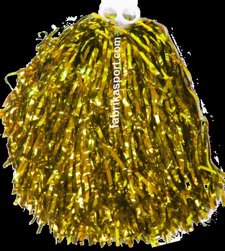 Мажоретни лъскави помпони Злато, 150 г