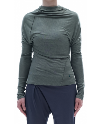 Блуза Arya с дълъг ръкав, зелена