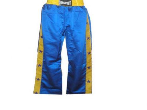 Панталон за кик-бокс Синьо&Жълто