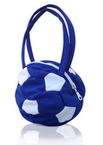 Чанта футболна топка, синя
