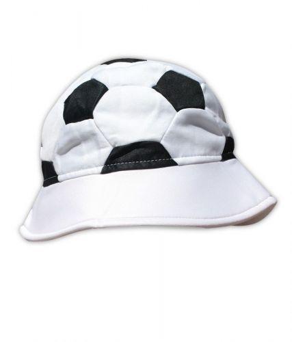 Шапка футболна топка, бяло и черно