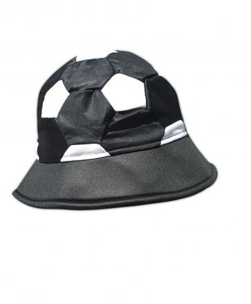 Шапка футболна топка, черно и бяло