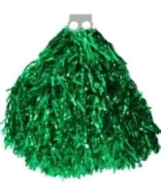 Мажоретни лъскави помпони Зелено, 100 г