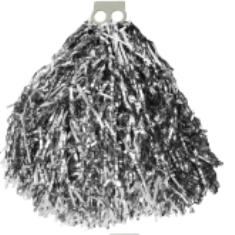Мажоретни лъскави помпони Сребро, 150 г