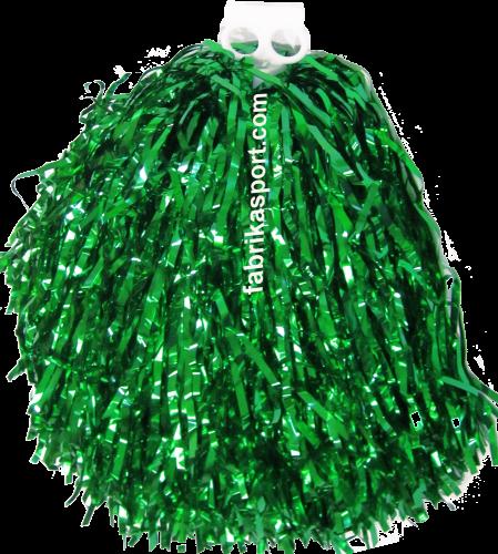 Мажоретни лъскави помпони Зелени, 150 г