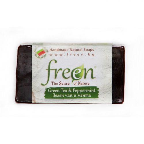 Натурален сапун Зелен чай и Мента, 100 г