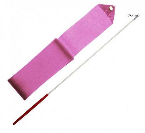 Лента за художествена гимнастика Розова