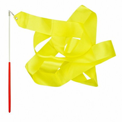Лента за художествена гимнастика Жълта