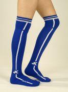 Футболни чорапи лукс, кралско синьо с лента