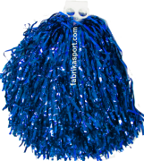 Мажоретни лъскави помпони Сини, 150 г