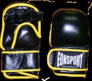 Ръкавици MMA за тренировки, с жълт акцент