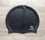 Силиконова шапка за плуване, черна