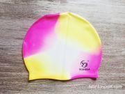Силиконова шапка за плуване, меланж