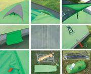 Палатка 2 + 1 места, двуслойна, 190Т