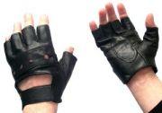 Спортни кожени ръкавици с лента
