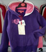 Детски спортен панталон Love, лила