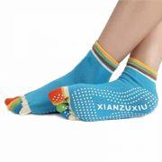 Йога чорапи с шарени пръсти