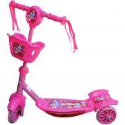 Детска тротинетка с три колела и кошче, с музика и светлина
