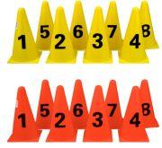 Конуси с цифри, комплект 8