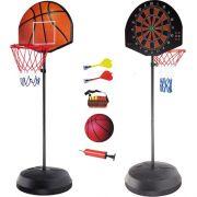 Баскетболен кош и дартс на стойка