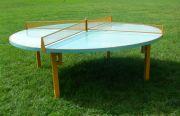 Кръгла тенис маса за монтаж на открито