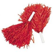 Мажоретни помпони Червени, 150 г