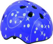 Спортна детска каска Звезди, синя